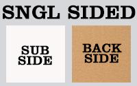 5mm Single Sided Raw Back