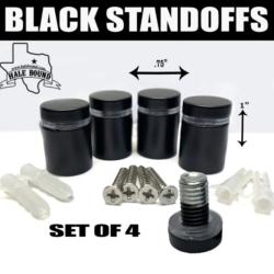1 INCH BLACK STAINLESS STEEL STANDOFFS