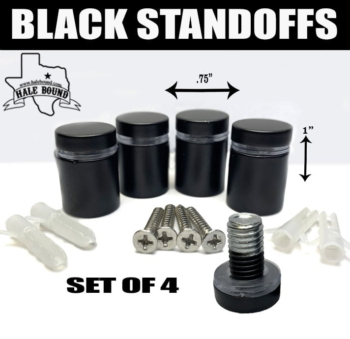 1 INCH BLACK STAINLESS STEEL STANDOFFS