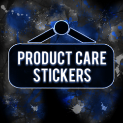 PRODUCT CARE STICKERS