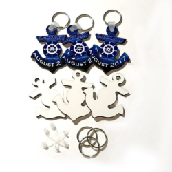 RTS MDF DBL SIDED ANCHOR KEY CHAINS