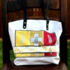 WHITE POLY TOTE BAG